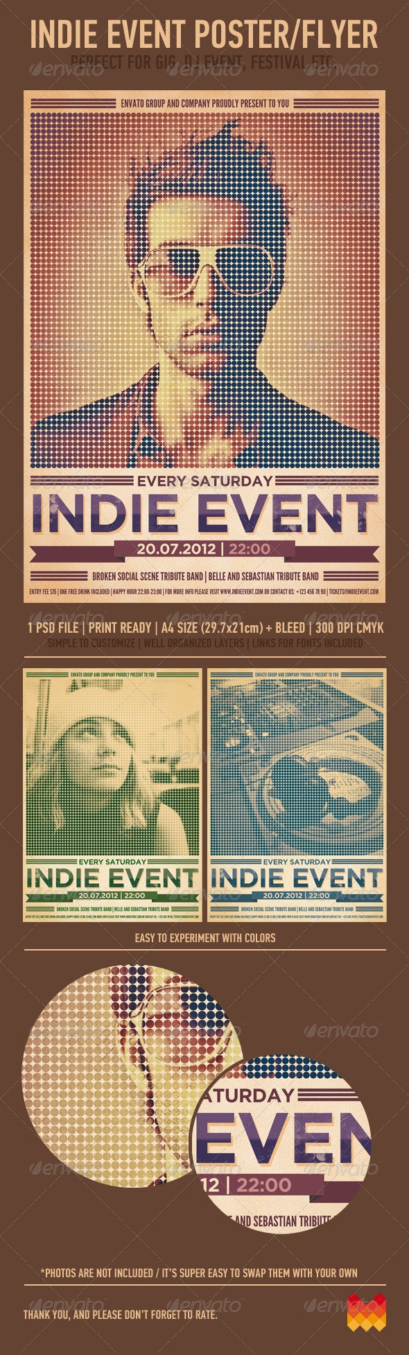 Indie Event Flyer/Poster - Events Flyers