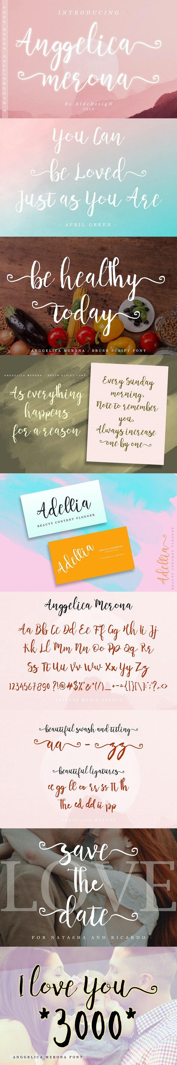 Anggelica Merona - Handwriting Fonts
