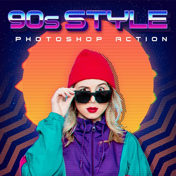 90s Style Photoshop Action