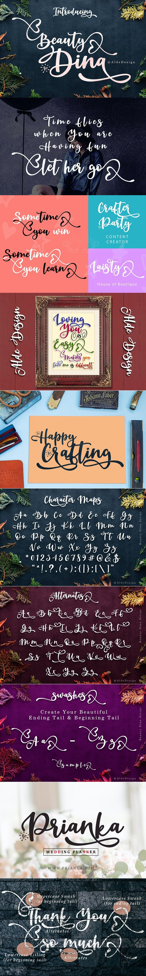 Beauty Dina - Hand-writing Script