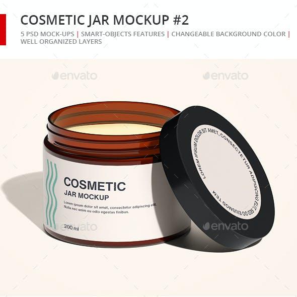 Cosmetic Jar Mockup Set 2