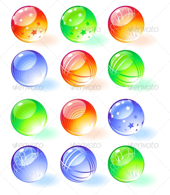 Shiny spheres. Vector - Decorative Symbols Decorative