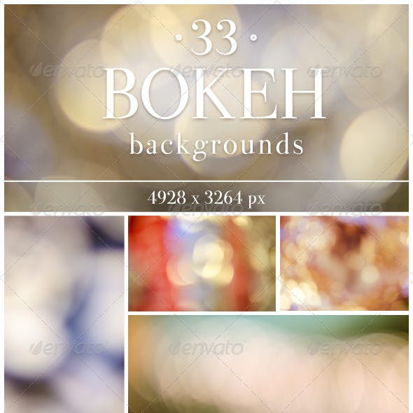 33 Bokeh Backgrounds Pack