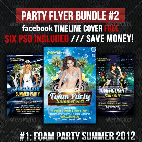 Party Flyer Bundle 02 + Facebook Timeline