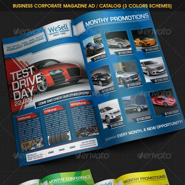 Business Corporate Magazine Ad / Catalog (3 color)