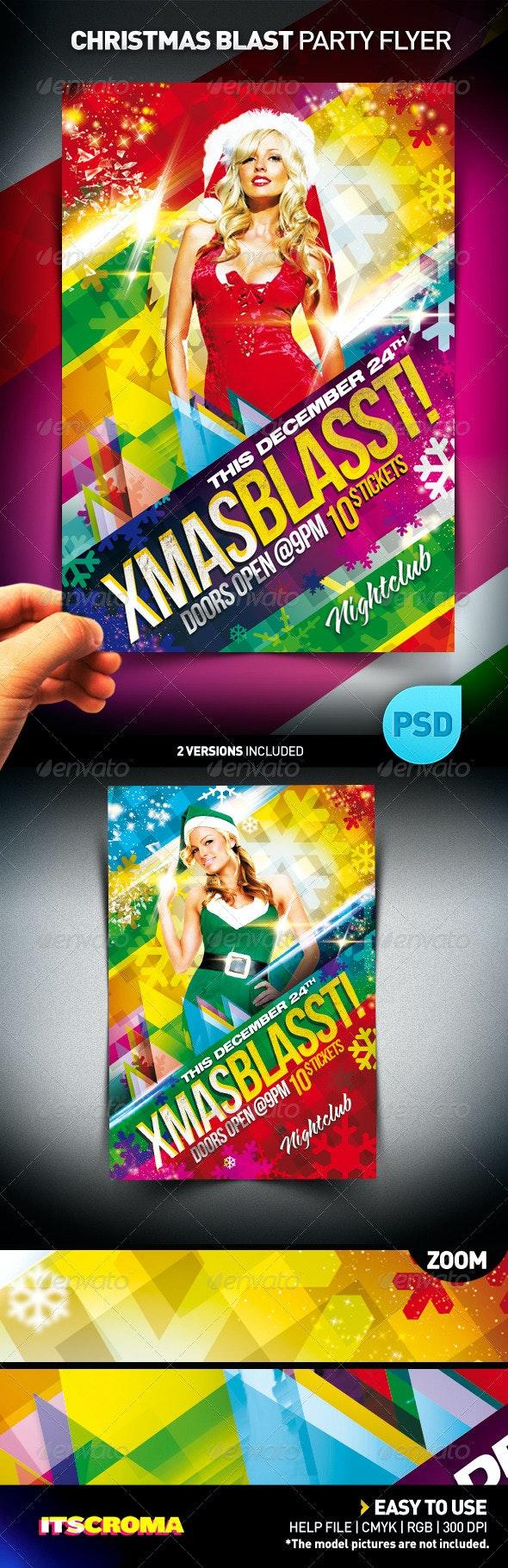 Xmas Blasst Party Flyer - Clubs & Parties Events