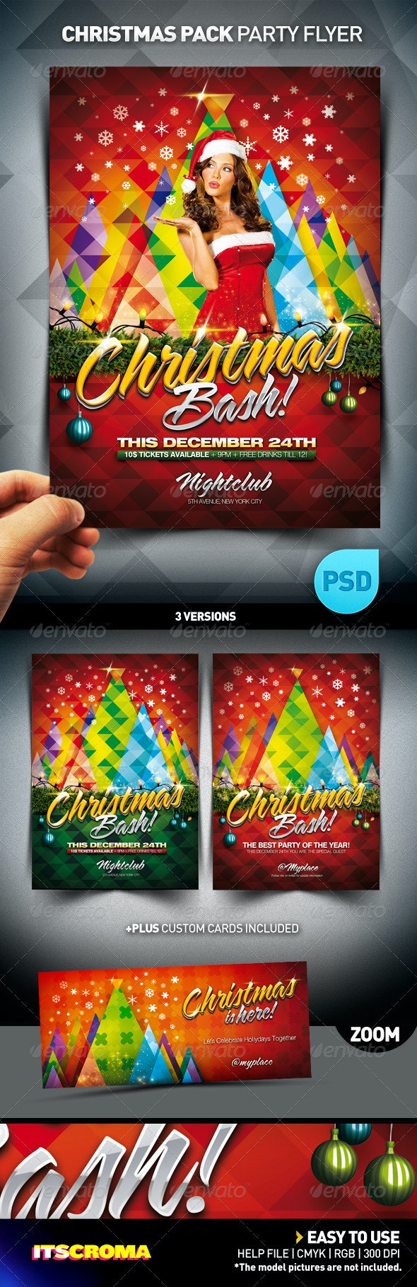 Christmas Bash Party Flyer Pack - Clubs & Parties Events