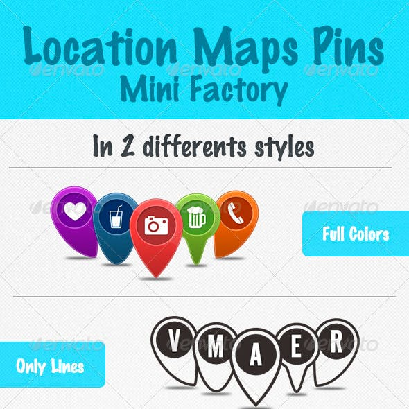 Location Pins Mini Factory