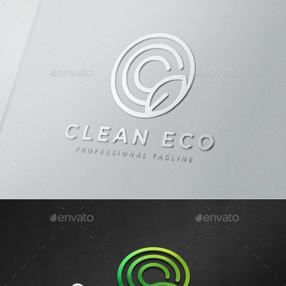 Clean Eco C Letter Logo