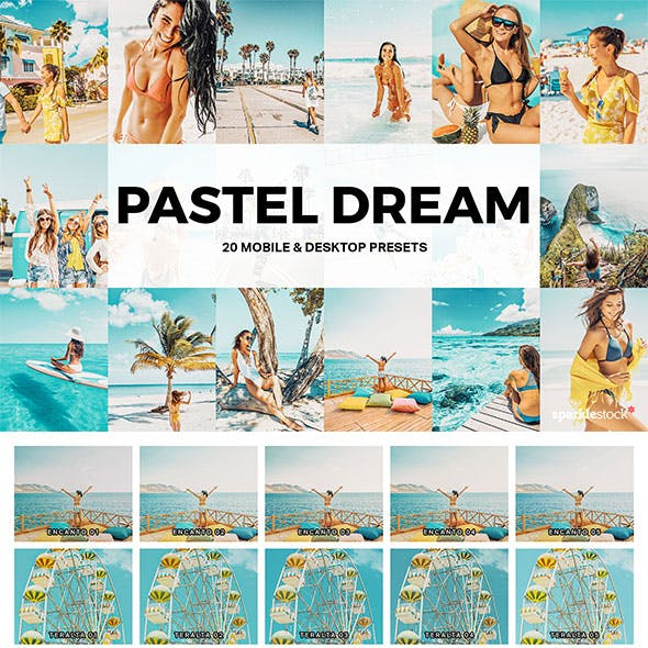 20 Pastel Dream Lightroom Presets and LUTs