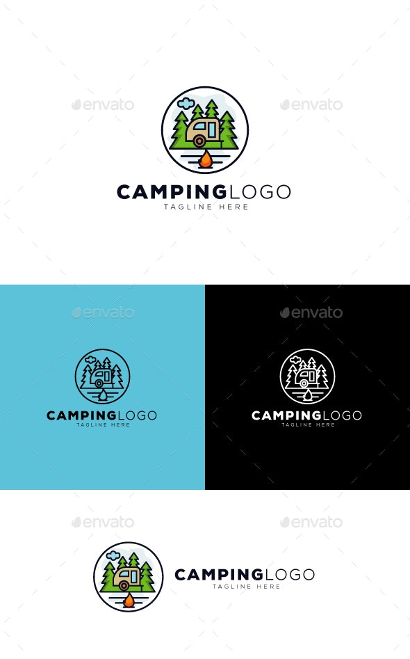 Camping Logo - Nature Logo Templates