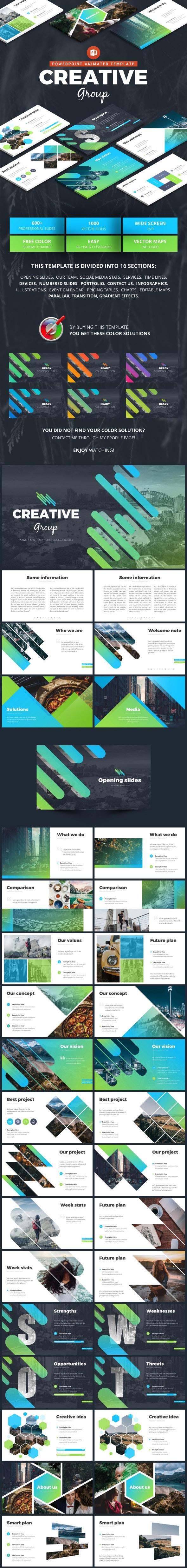 Modern Creative Marketing - Pitch Deck PowerPoint Templates
