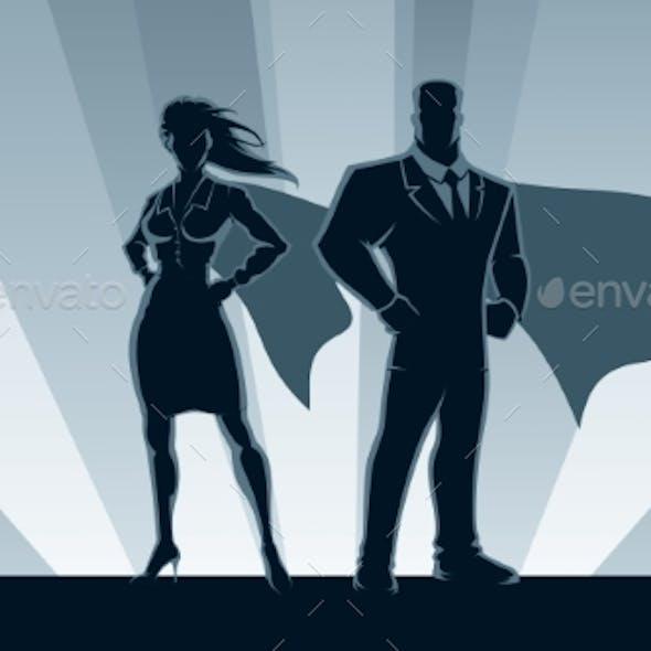 Superhero Business Couple