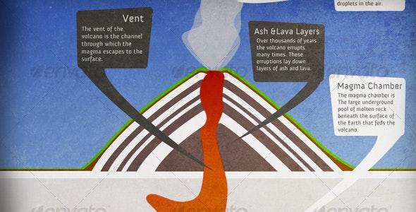 Volcano Cross-Section Diagram - Scenes Illustrations