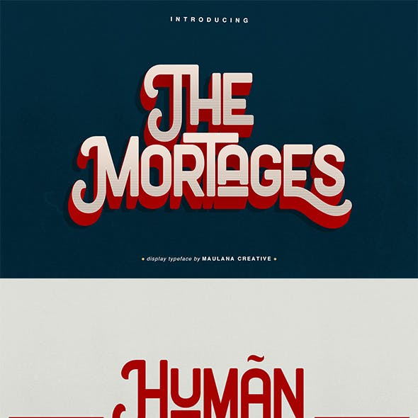 The Mortages - Display Font
