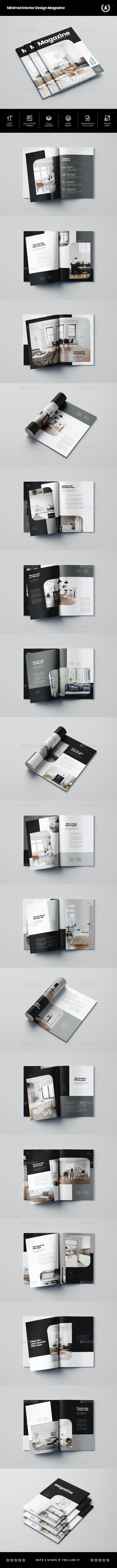 Minimal Interior Design Magazine - Magazines Print Templates