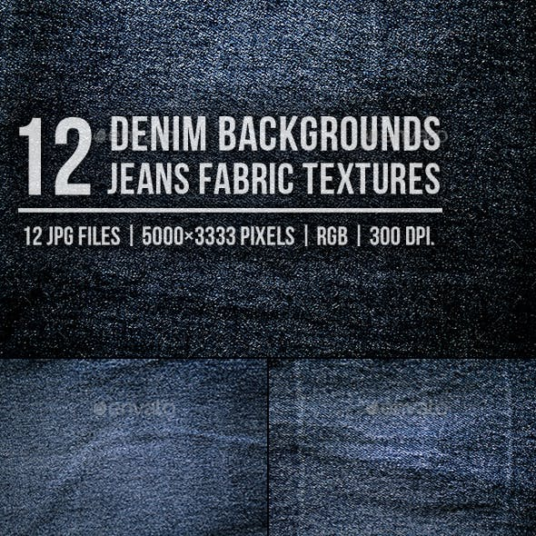 Denim Background Jeans Fabric Textures