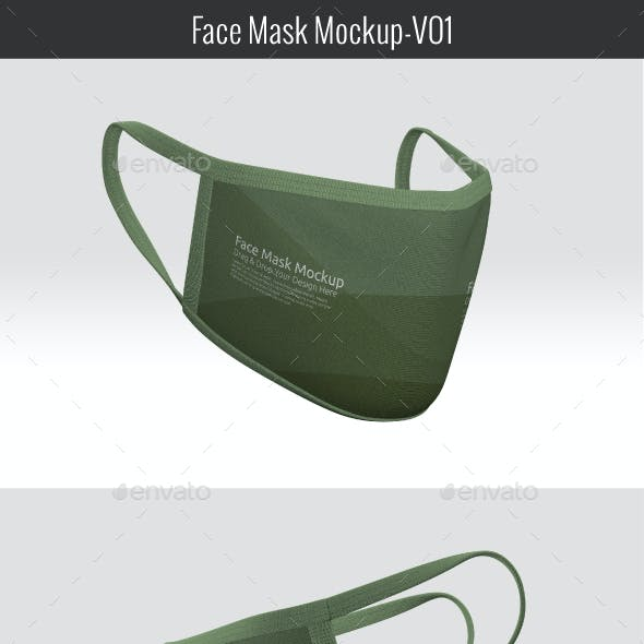 Face Mask Mock-up V01