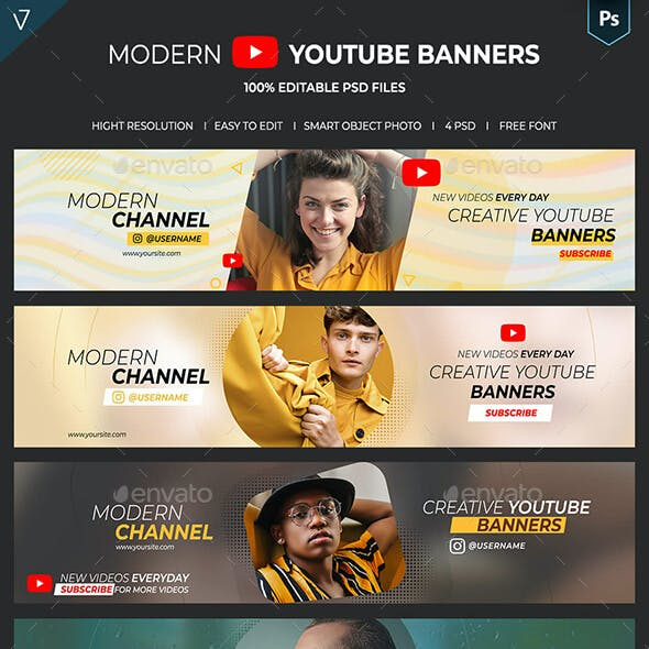 Modern Youtube Banners