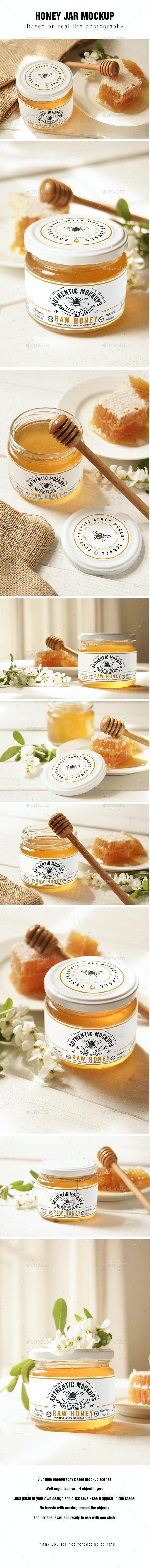 Honey Jar Mockup - Food and Drink Packaging