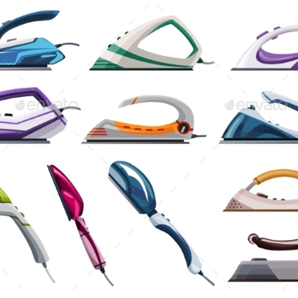 Collection of Iron Steamers Smoothing Irons