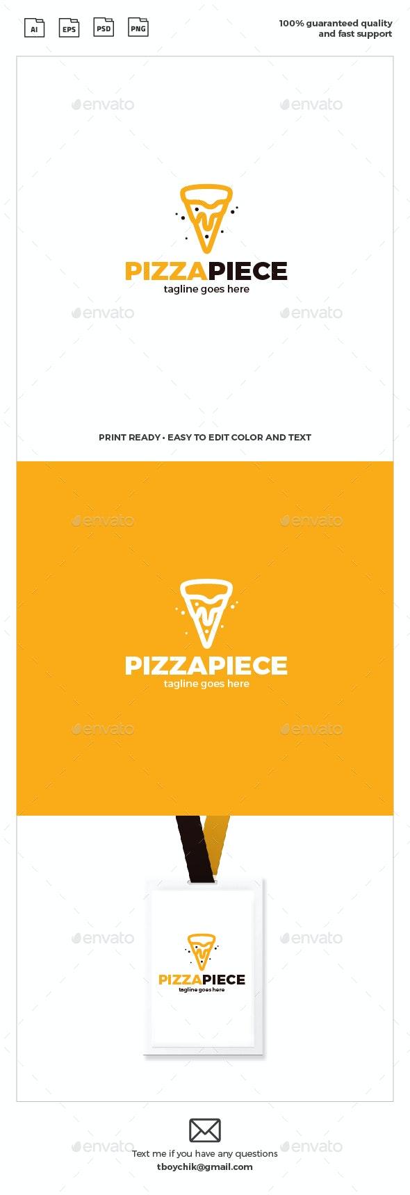 Pizza Slice Logo - Food Logo Templates