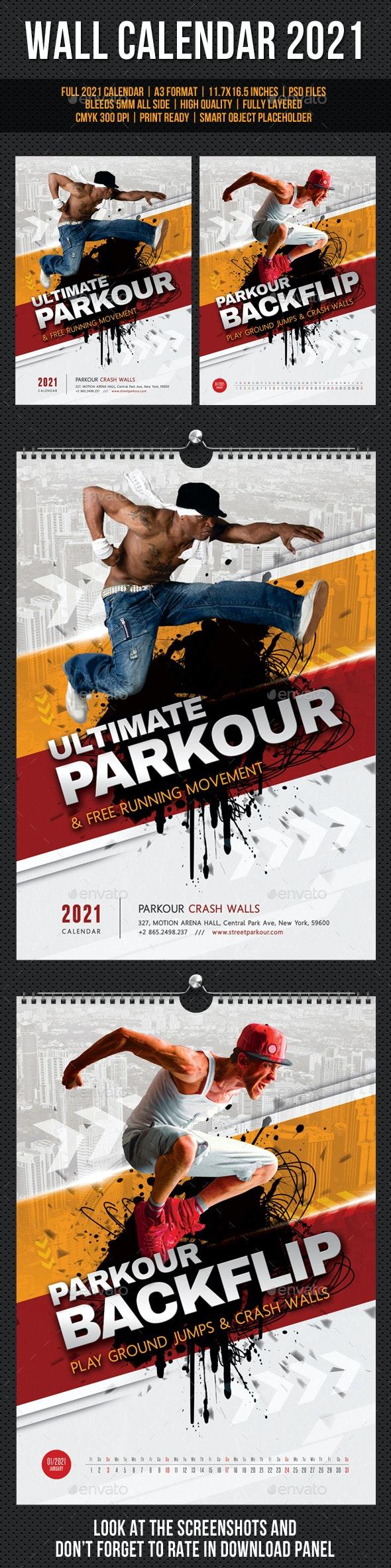 Ultimate Parkour Wall Calendar A3 2021 - Calendars Stationery