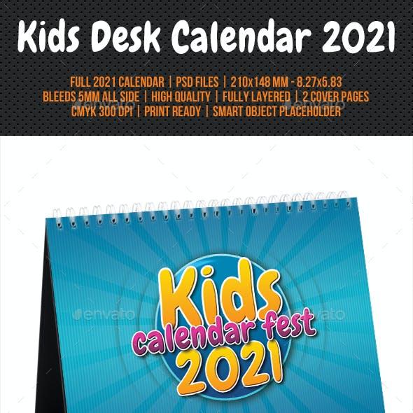 Kids Desk Calendar 2021