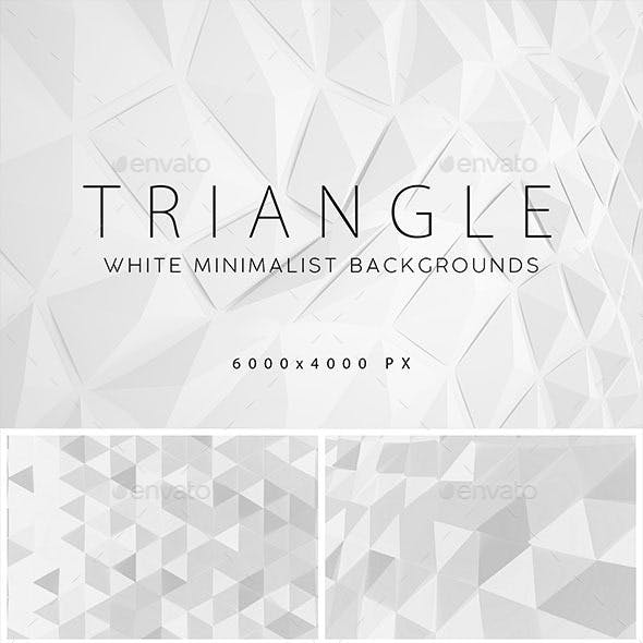 White Triangle Backgrounds