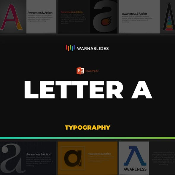Letter A Typography PowerPoint Template