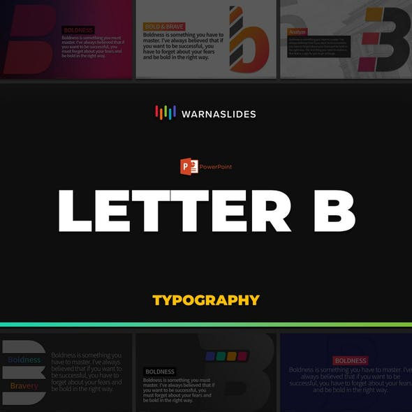 Letter B Typography PowerPoint Template