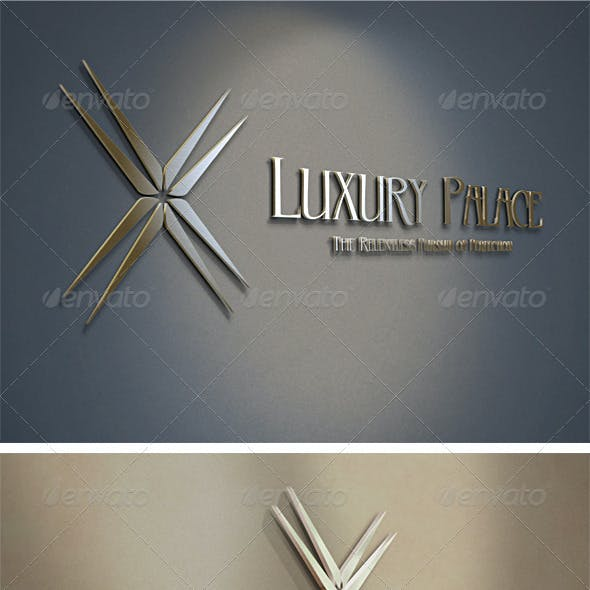 3D Luxury Hotels Logo Template