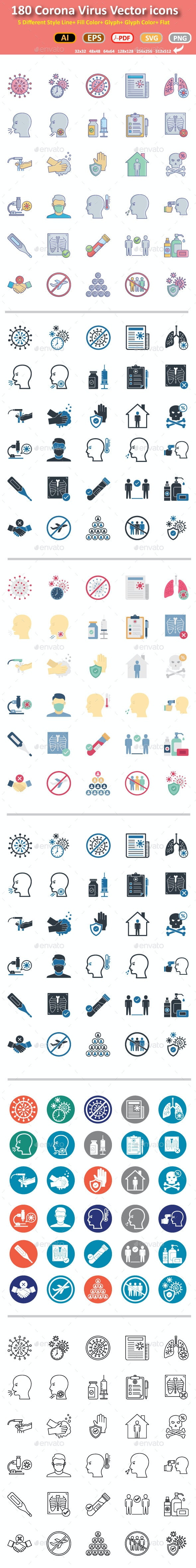 Coronavirus Vector icons - Icons