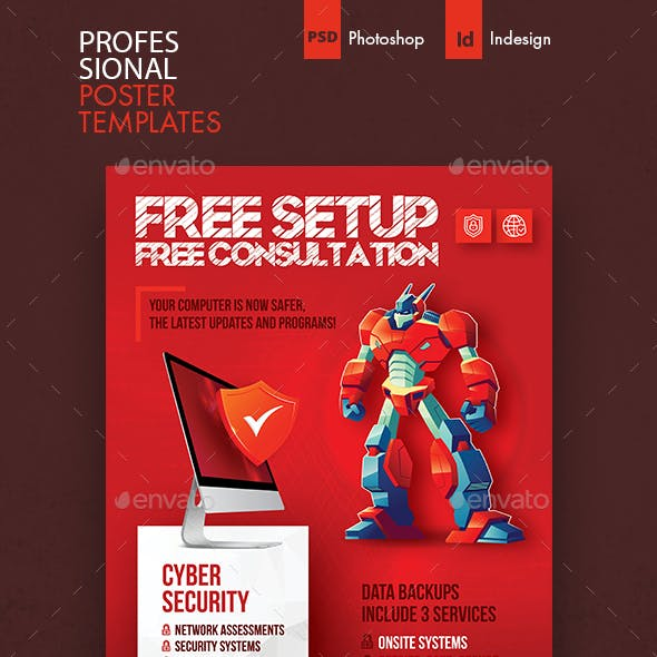 Computer Service Poster Templates