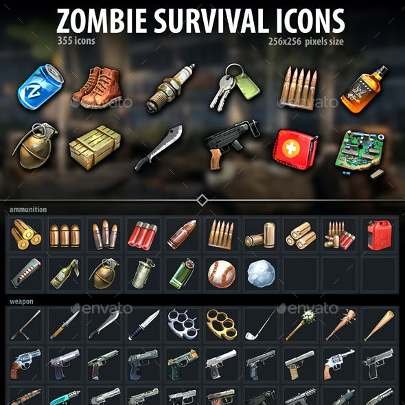 Zombie Survival Icons