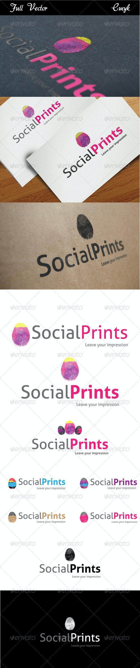 Social Prints Logo - Symbols Logo Templates