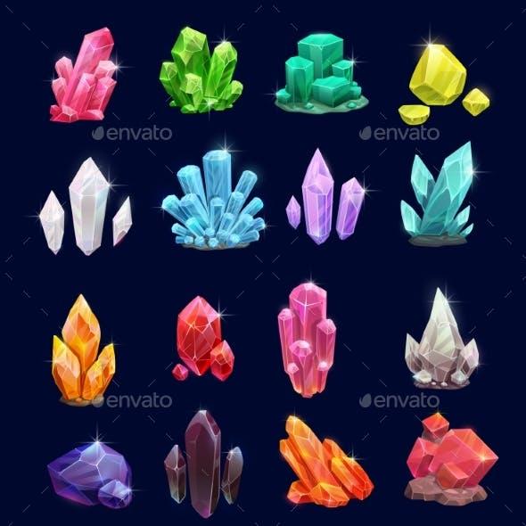 Crystal Gems Vector Gemstone Icons