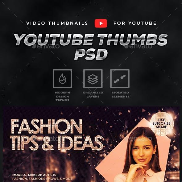 Youtube Thumbnail Templates Set 5