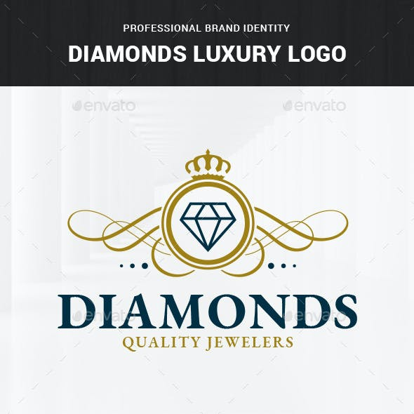 Diamonds Luxury Logo Template