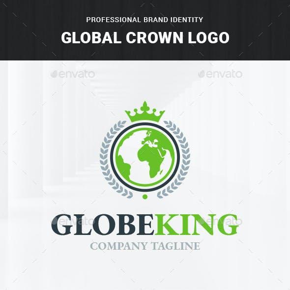 Global Crown Logo Template