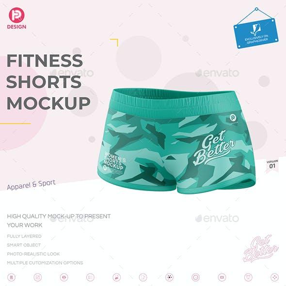 Fitness Shorts Mockup V1