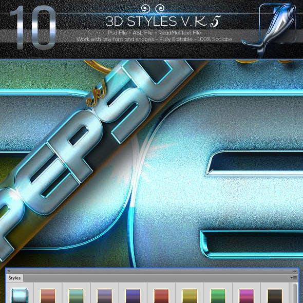 10 3D Text Styles V K5