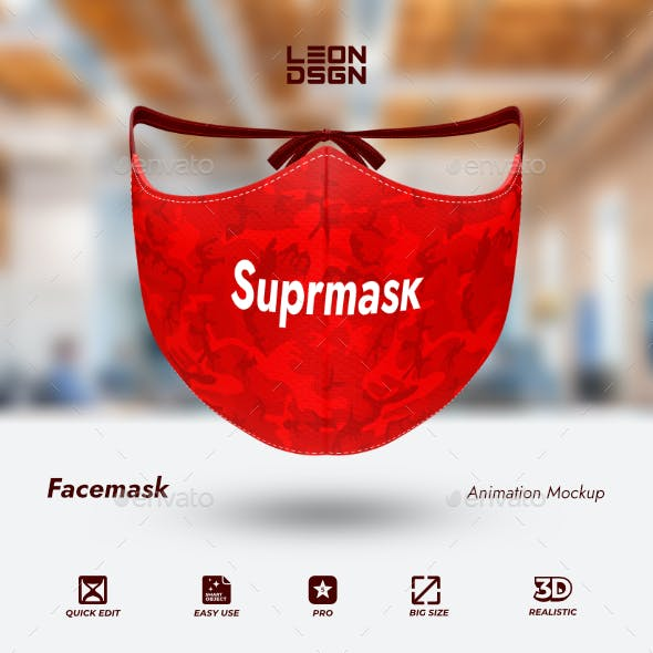 Face Mask - Animation Mockup