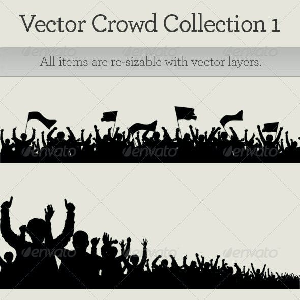 Vector Happy Crowd