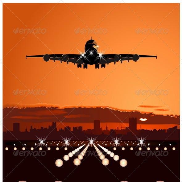 Airbus at Sunset