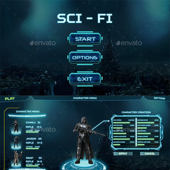 SciFi GUI Pack