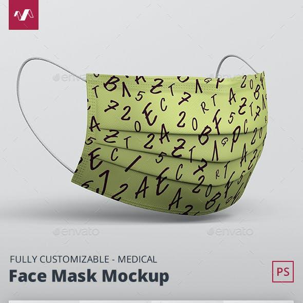 Face Mask Mockup - Medical Mask