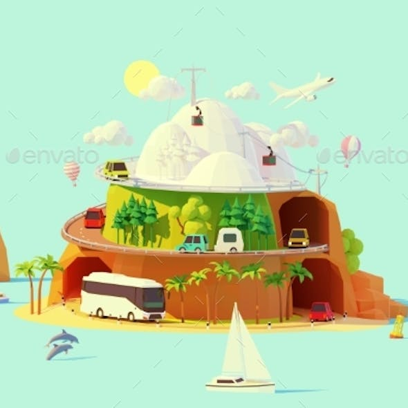 Vector Tourism and Travel Illustration