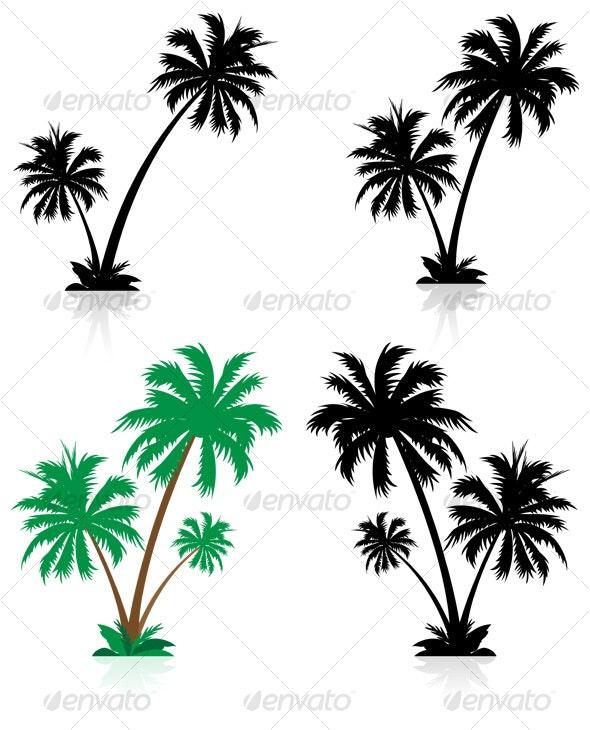 palm tree set - Abstract Conceptual