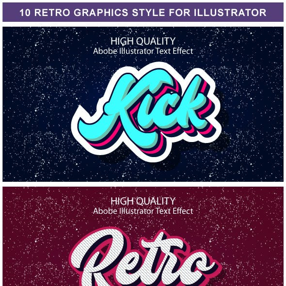 10 Different Retro Graphic Styles for Adobe Illustrator